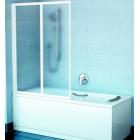 Шторка на прямоугольную ванну Ravak VS2 105 белая + Грапе