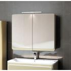 Шкаф зеркальный 85 см бежевый Edelform Кальма 90