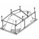 Монтажный комплект для ванны Roca Merida 170 ZRU9302994