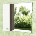 Зеркало со шкафчиком 70 см венге белый Comforty Рио 70 зер. вен.