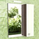 Зеркало со шкафчиком 60 см венге белый Comforty Рио 60 зер. вен.