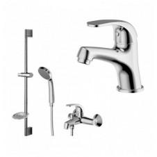 Смеситель 3 в одном на ванну, раковину и душевой гарнитур Bravat Fit 7F00315C
