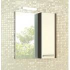 Зеркало со шкафчиком 70 см венге белый Comforty Барселона 70 зер. вен.