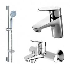 Смеситель 3 в одном на ванну, раковину и душевой гарнитур Bravat Drop F00308C