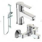 Смеситель 3 в одном на ванну, раковину и душевой гарнитур Vidima Uno BA376AA