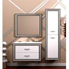 Комплект мебели Opadiris Карат 100 Белый глянцевый с серебряной патиной