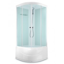 Душевая кабина 800*800 Domani-Spa Light 88 high Б/Э белая