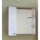 Зеркало с шкафчиком и подсветкой для ванной 75 см Onika Стиль 75.01 207519
