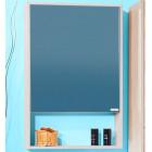 Шкаф зеркальный 57 см ясень наварра Бриклаер Ницца 57