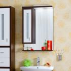 Зеркало с подсветкой 62 см венге белый левое Бриклаер Бали 62