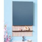Шкаф зеркальный 60 см дуб кантри/венге Бриклаер Карибы 60