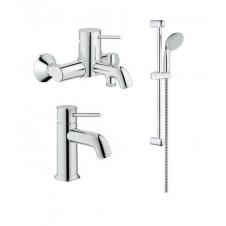 Смеситель 3 в одном на ванну, раковину и душевой гарнитур Grohe BauClssic 124404