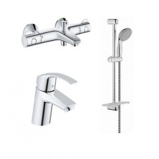 Смеситель 3 в одном на ванну, раковину и душевой гарнитур Grohe Grohtherm 800 124422