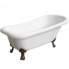Ванна акриловая на ножках античная медь 1850*800 Faro Ретро 9009 (1850)