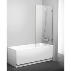Шторка на ванну неподвижная 80 см Ravak BVS1-80 хром Транспарент + B SET