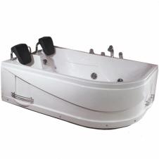 Ванна акриловая асимметричная левая c гидромассажем 1700*1200 Loranto CS-806L