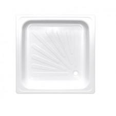 Душевой поддон квадратный стальной с рантом 900*900 Виз Antika APS-90101