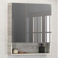 Шкаф зеркальный дуб белый 60 см Comforty Никосия 60 дуб бел.