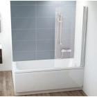 Шторка на ванну поворотная правая 80 см Ravak CVS1-80 R белый + транспарент