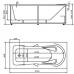 Ванна акриловая прямоугольная 1700*800 Aquatek Леда 170