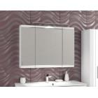 Шкаф зеркальный с подсветкой 100 см белый Фортэ 95