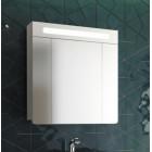 Шкаф зеркальный с подсветкой 75 см белый Edelform Гласс 80