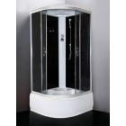 Душевая кабина 1000*1000 Loranto CS-1000 HI SK G черная