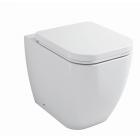 Унитаз напольный приставной с сиденьем микролифт Belbagno Alpina BB10100CB+BB10100SC