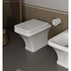 Унитаз напольный приставной с сиденьем микролифт Hidra Ceramica Tosca ТО10+TOZ