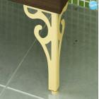 Комплект ножек декоративных (золото) к тумбе Римини 60,80 2 шт.
