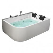 Ванна акриловая асимметричная левая с гидромассажем 1700*1200 Frank F152 L