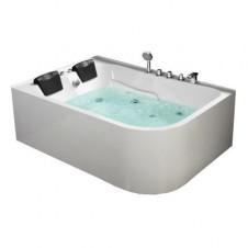 Ванна акриловая асимметричная правая с гидромассажем 1700*1200 Frank F152 R