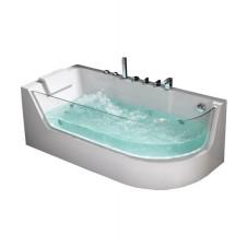 Ванна акриловая асимметричная правая с гидромассажем 1700*800 Frank F105R