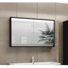 Шкаф зеркальный с подсветкой 80 см венге Константе 80