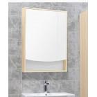 Шкаф зеркальный с подсветкой белый/ясень 65 см Акватон Инфинити 1A197002IFSC0