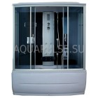 Душевая кабина 1250*850 Aquapulse 7806A grey black