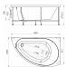 Ванна акриловая асимметричная правая 1680*1000 Vannesa Бергамо R 168