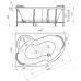 Ванна акриловая асимметричная левая 1690*1100 Vannesa Ирма L 169