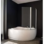 Душевая шторка на угловую ванну правая Kolpasan Loco, Sole TP 143 Loco Silver Transparent