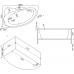 Ванна акриловая асимметричная левая 1500*900 Bas Вектра
