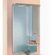 Зеркало со шкафчиком 55 см белое Aqwella Барселона BA.02.55