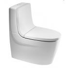 Унитаз напольный с бачком и сиденьем микролифт Roca Khroma белый 342657+34165+80165+801652