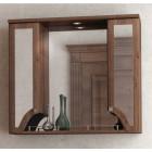 Зеркало с подсветкой и шкафчиком 80 см эбони темный Aqualife Пиллау 2-141-025-S