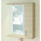 Зеркало со шкафчиком и подсветкой 75 см сосна Comforty Марио 75 зер.сосна