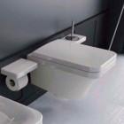 Унтитаз подвесной с крышкой микролифт Hidra Ceramica Flat FLW10 + FLZ