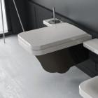 Унтитаз подвесной с крышкой микролифт Hidra Ceramica Flat FLW10 + FLZ черно-белое