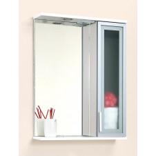 Зеркало с подсветкой и шкафчиком 58 см Aqualife Нью-Йорк 2-130-024-S