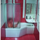 Шторка на прямоугольную ванну Ravak VS2 105 сатин + Раин
