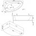 Ванна акриловая асимметричная правая 1700*1100 Bas Лагуна