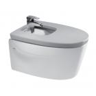 Биде подвесное с сиденьем микролифт Roca Khroma серебристо серый 357655000 + 806652F1T